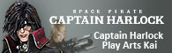 Captain Harlock Play Arts Kai Action Figures