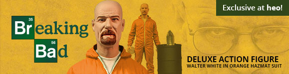 Breaking Bad - Deluxe Action Figure Walter White in Orange Hazmat