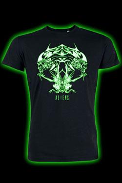 Alien T-Shirt Tribal Queen Glow In The Dark Size XL