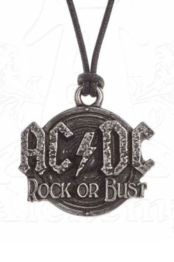 AC/DC Pendant with Cord Rock Or Bust