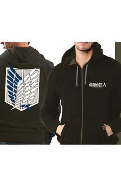 Attack on Titan Hooded Sweater Scout Size L