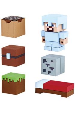 Minecraft Mine-Keshi Figures 2- 4 cm Starter Set Survival Pack & Steve