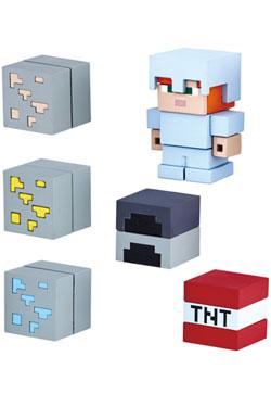 Minecraft Mine-Keshi Figures 2- 4 cm Starter Set Cave Adventure Pack & Alex