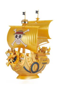 One Piece Gold Grand Ship Collection Plastic Model Kit Thousand Sunny Commemorative Color 15 cm