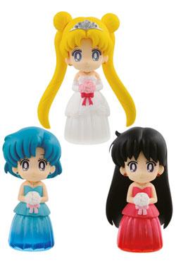 Sailor Moon Figures 6 cm Assortment Clear Colored Sparkle Dress Collection Vol. 1 (25)