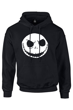 Nightmare Before Christmas Hooded Sweater Cracked Face Size M
