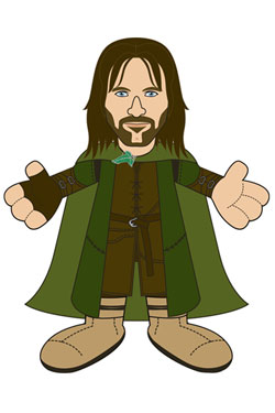 Lord of the Rings Plush Figure Aragorn 25 cm