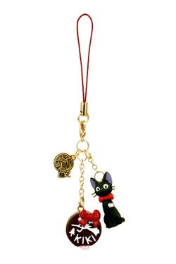 Kiki's Delivery Service Strap Charm Jiji & Chocolate 13 cm