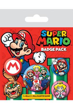 Super Mario Pin Badges 5-Pack