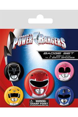 Power Rangers Pin Badges 5-Pack Helmets