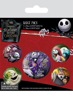 Nightmare Before Christmas Pin Badges 5-Pack Characters