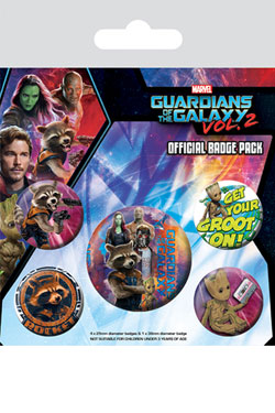 Guardians of the Galaxy Vol. 2 Pin Badges 5-Pack Rocket & Groot