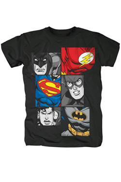 Justice League T-Shirt Characters Size S
