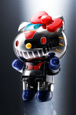 Hello Kitty Chogokin Diecast Action Figure Hello Kitty (Mazinger Z Color) 10 cm
