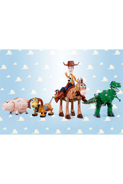 Toy Story Chogokin Diecast Action Figure 5-Pack Combination Woody Robo Sheriff Star 23 cm
