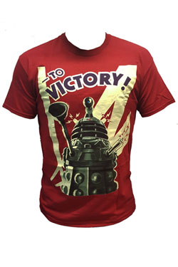 Doctor Who T-Shirt Dalek To Victory Cardinal Size M