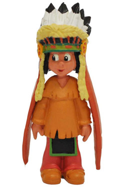 Yakari Figure Yakari With Headdress 6 cm