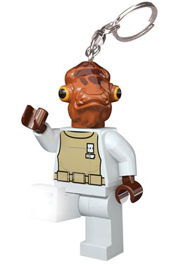 Lego Star Wars Mini-Flashlight with Keychains Admiral Ackbar