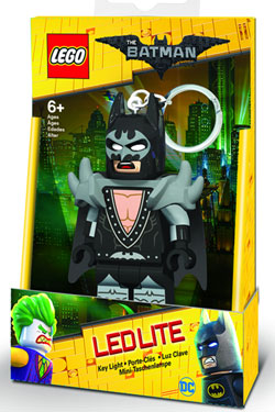 Lego Batman Movie Mini-Flashlight with Keychains Glam Rocker Batman