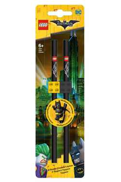 LEGO Batman Movie Pencil with Topper 2-Pack