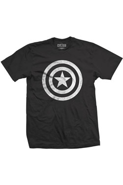 Captain America Civil War T-Shirt Basic Shield Distressed Size M