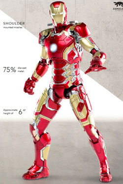Avengers Age of Ultron Diecast Action Figure 1/12 Iron Man Mark 43 20 cm