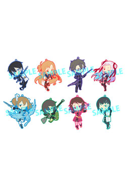 Sword Art Online Rubber Charms 6 cm Assortment Toy'sworks Collection Niitengomu! (8)
