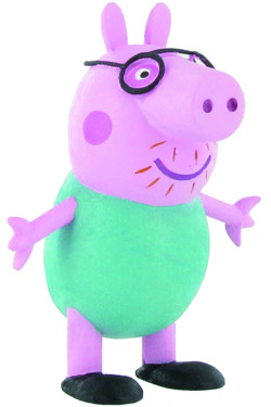 Peppa Pig Mini Figure Daddy Pig 6,5 cm
