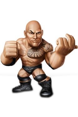 WWE Wrestling Mini Figure The Rock 8 cm