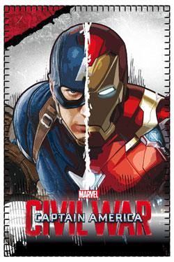 Captain America Civil War Fleece Blanket Captain America & Iron Man 100 x 150 cm
