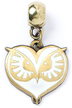 Fantastic Beasts Charm Owl Face (antique brass plated)