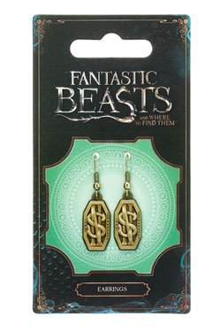 Fantastic Beasts Newt Scamander Logo Earrings (antique brass plated)