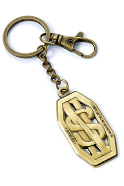 Fantastic Beasts Keychain Newt Scamander Logo (antique brass plated)