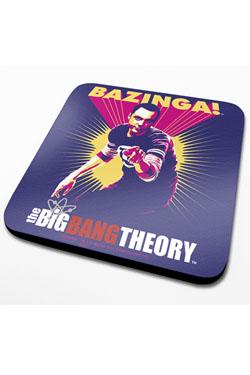 The Big Bang Theory Coaster Bazinga Purple 6-Pack