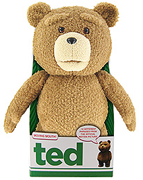 Ted Talking Plush Figure with Moving Mouth Rated 40 cm