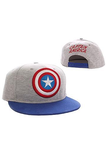 classic fit d5abc b4ed4 Captain America Adjustable Cap Vintage Logo grey