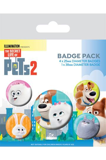 c1a10343c267 The Secret Life of Pets 2 Pin Badges 5-Pack For Pet's Sake