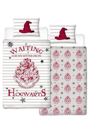 Harry Potter Duvet Set Reversible Letters 135 X 200 Cm 48 X 74 Cm