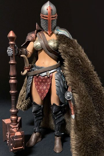 Mythic Legions Cassia Figure w// Extra Head /& Hammer