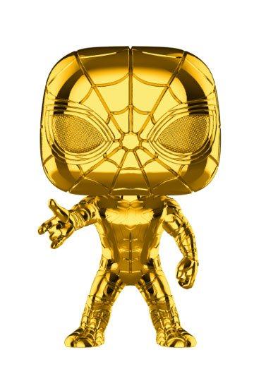MARVEL STUDIOS 10 POP! MARVEL VINYL FIGURA SPIDER-MAN (CHROME) 9 CM