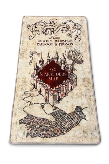 Harry Potter Carpet Marauders Map 76 X 133 Cm