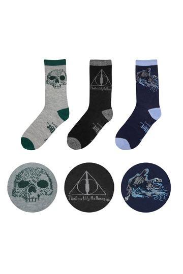 Harry Potter Socken 3er Pack Deathly Hallows