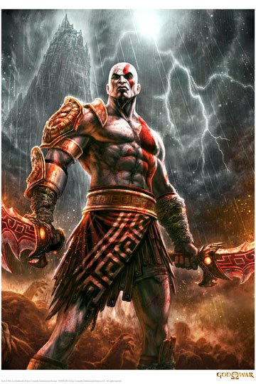 God of War Art Print Lightning 42 x 30 cm