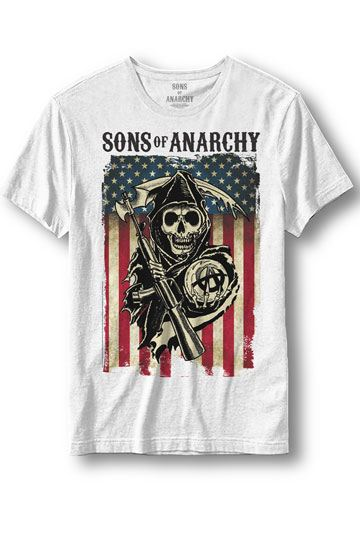 Sons of Anarchy T-Shirt Reaper Flag