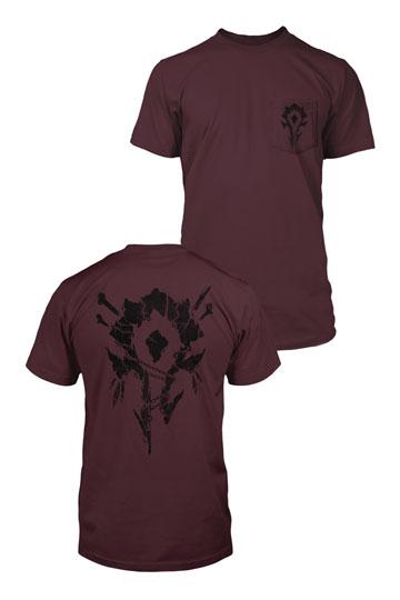 b97e911ee3346f World of Warcraft Premium Pocket T-Shirt Horde Bones Crest