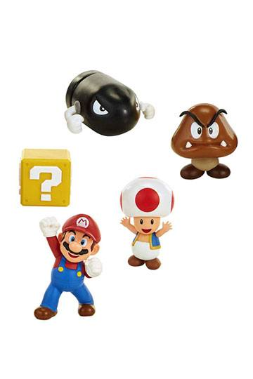 World of Nintendo Mini Figure 5-Pack New Super Mario Bros  U