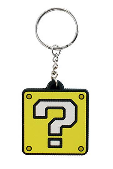 Super Mario Bros. Rubber Keychain Question Mark Block 5 cm