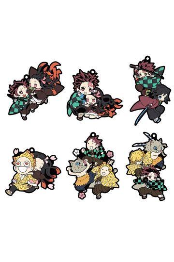 Demon Slayer: Kimetsu no Yaiba assortiment charms caoutchouc