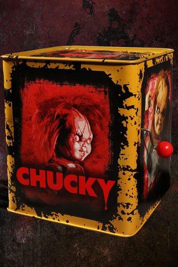 Bride of Chucky Burst-A-Box Music Box Scarred Chucky 36 cm