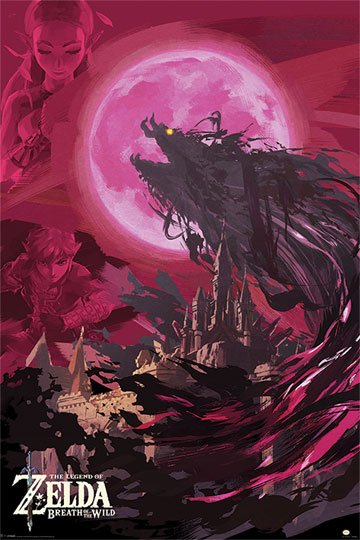 Legend Of Zelda Breath Of The Wild Poster Pack Ganon Blood